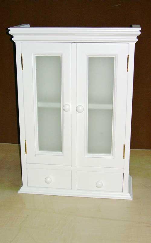 Muebles de ba o y aseo de madera carpinter a ebanisteria - Armario blanco pequeno ...