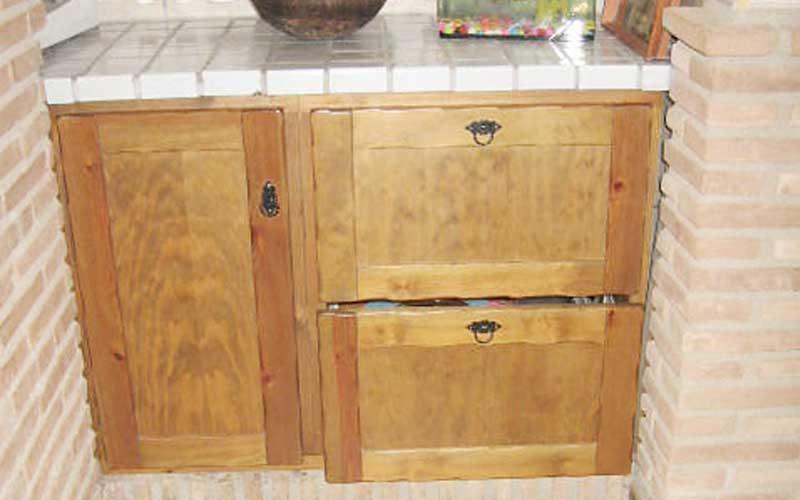 Muebles de cocina de madera carpinter a ebanisteria salvador diaz e hijos - Muebles de madera rusticos para cocina ...