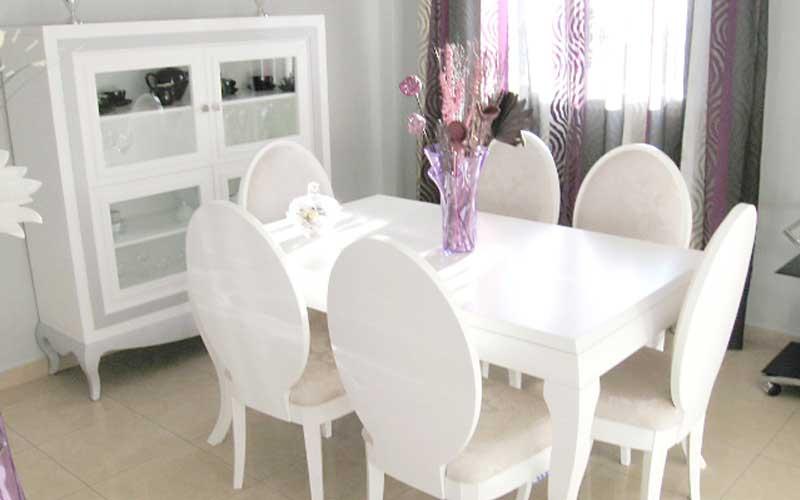 Muebles de sal n comedor de madera carpinter a for Muebles de comedor blancos